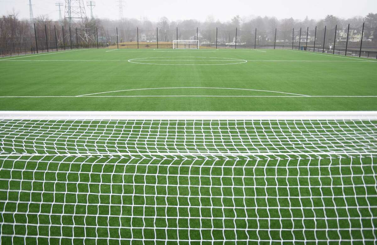 Synthetic turf playing fields are planned for New Milford High School.