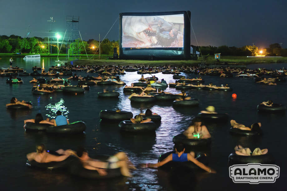 "Movie lovers will get the chance to watch ""Jaws"" from the comfort of a floatation device this summer at Texas Ski Ranch in News Braunfels. Photo: Heather Leah Kennedy, Courtesy Photo/Alamo Drafthouse / © 2015 Heather Leah Kennedy"