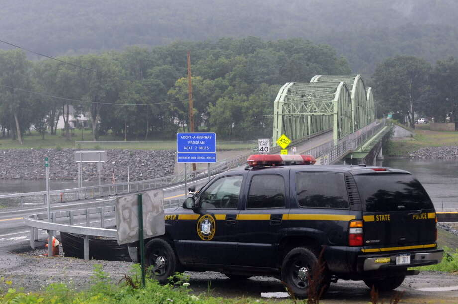New York State Police near Routes 5 and 103 in Glenville, NY, in July 2012. (Michael P. Farrell/Times Union archive) Photo: Michael P. Farrell