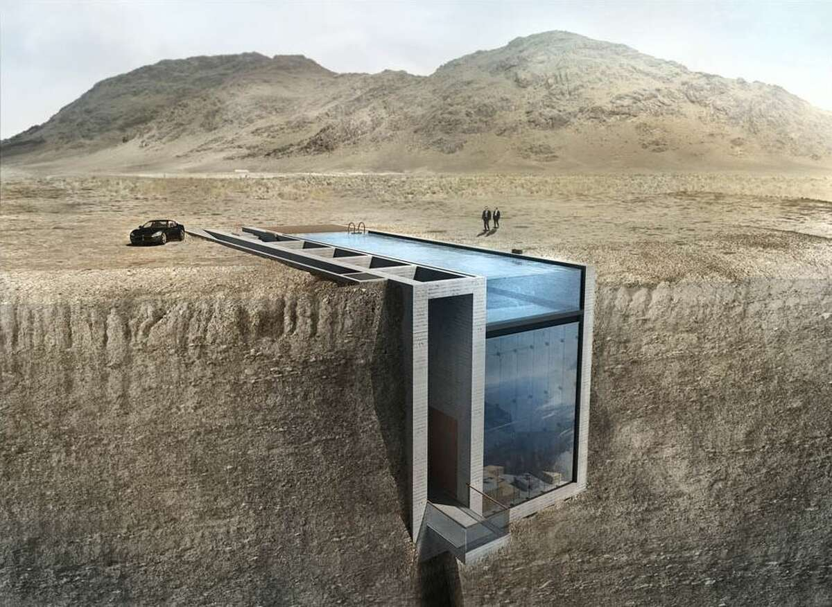 This stunning glass Cliffside home offers breath-taking views of the Aegean Sea in Greece. The spectacular glass design, which is yet to be built, would offer unpatrolled views of the sea beneath. (Rex Features via AP Images)