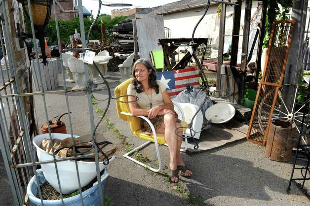 Camille Gibeau, owner of Silver Fox Salvage along with Jaime Walton, on Thursday, July 2, 2015, in Albany, N.Y. (Cindy Schultz / Times Union) Photo: Cindy Schultz, Albany Times Union / 00032451A