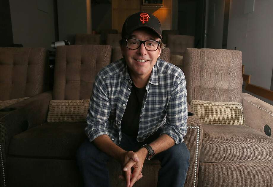 "Film director Chris Columbus talks about his new film ""Pixels"" in his screening room in San Francisco, Calif., on Tuesday, July 7, 2015. Photo: Liz Hafalia, The Chronicle"