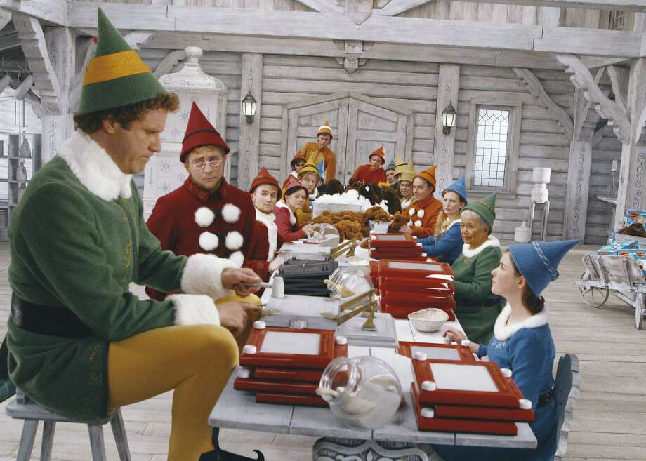 "Will Ferrell, left, stars as  Buddy  in ""Elf."" Photo: Alan Markfield"