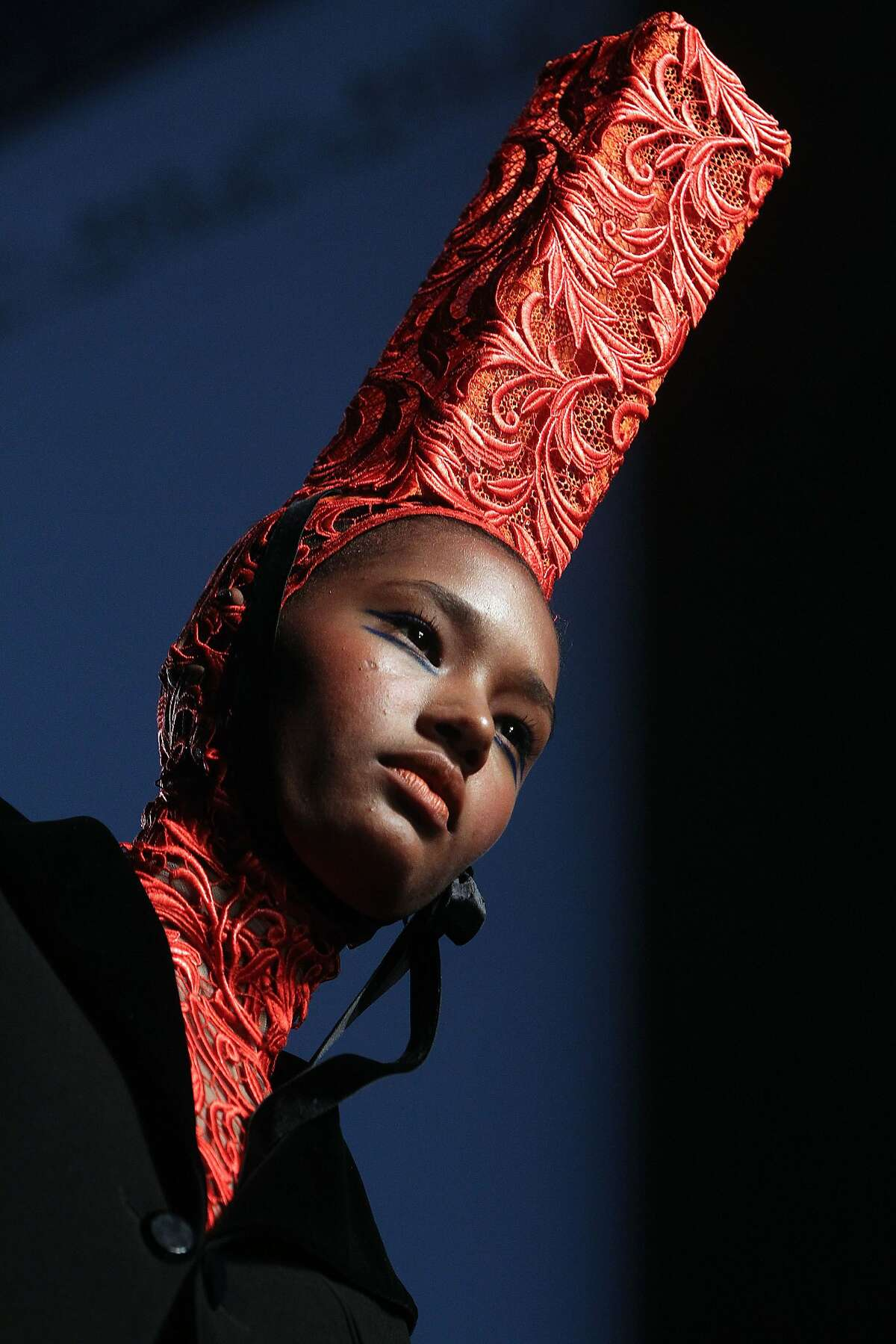 A model wears a creation for Jean-Paul Gaultier's fall-winter 2015/2016 Haute Couture fashion collection presented in Paris, France, Wednesday, July 8, 2015. (AP Photo/Thibault Camus)