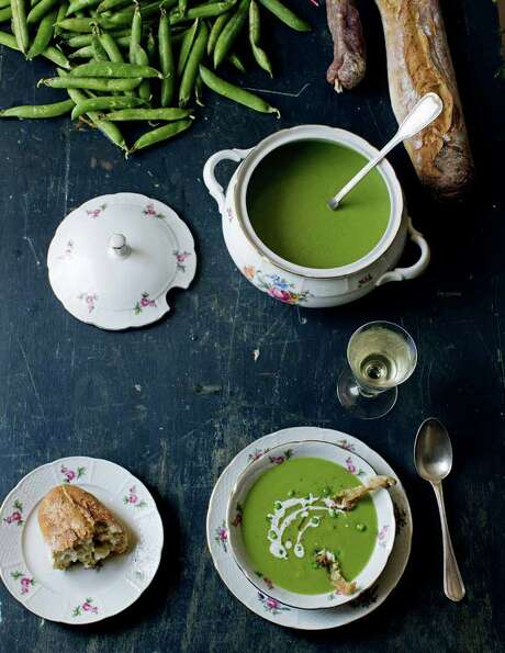 "Chilled Garden Pea Velouté, reprinted from ""A Kitchen in France: A Year of Cooking in My Farmhouse"" (Clarkson Potter, an imprint of Random House LLC). Photo: Oddur Thorisson /Courtesy Photo"