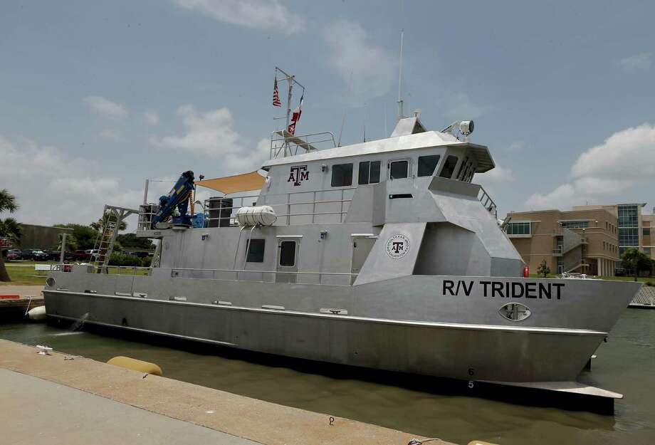 Texas A&M University at Galveston's new $2.5 million dollar research vessel R/V Trident Wednesday, July 8, 2015, in Galveston. Photo: James Nielsen, Houston Chronicle / © 2015  Houston Chronicle
