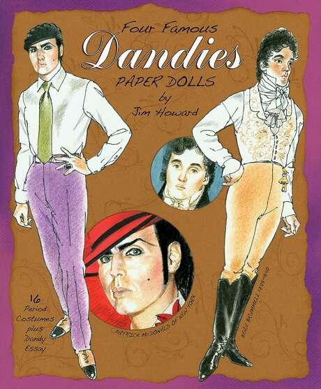 """""""Four Famous Dandies"""" by Jim Howard, published by Paper Studio Press, features four distinctive dressers, including Patrick McDonald. Photo: Paper Studio Press"""