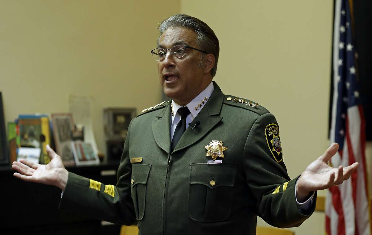 San Francisco Sheriff Ross Mirkarimi gestures during an interview Monday, July 6, 2015, in San Francisco. Mirkarimi has defended the release of Francisco Sanchez from jail on April 15, who is now accused in the shooting death of a woman at a popular tourist site. (AP Photo/Ben Margot)