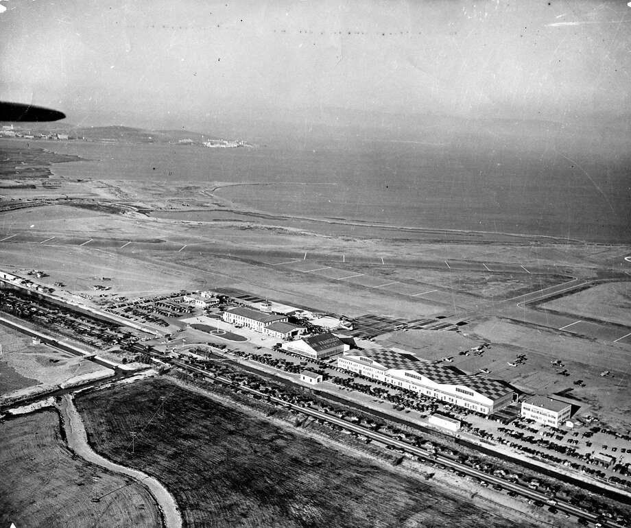 The San Francisco airport in 1947, seven years before its grand opening. The administration building cost $160,000 to construct in 1945 and established San Francisco as one of the nation's major air terminals.