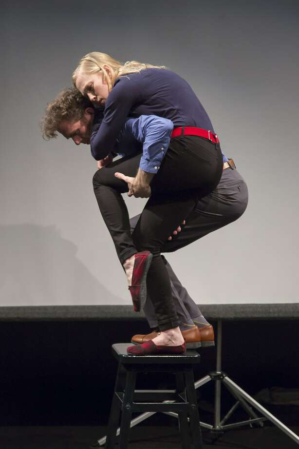 """Mark Jackson and Megan Trout in """"Now for Now"""" at Z Below Photo: Tracy Martin"""