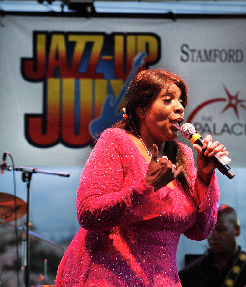 Gloria Gaynor performs during the opening night of Jazz-Up July at Columbus Park in downtown Stamford, Conn., on Wednesday, July 8, 2015. The weekly concert starts at 6:30 p.m. every Wednesday of July. Hearst Connecticut Media is a sponsor of the event. Photo: Jason Rearick / Hearst Connecticut Media / Stamford Advocate