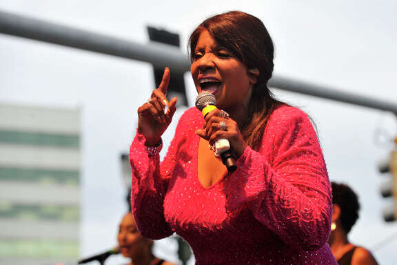 Gloria Gaynor performs during the opening night of Jazz-Up July at Columbus Park in downtown Stamford, Conn., on Wednesday, July 8, 2015. The weekly concert starts at 6:30 p.m. every Wednesday of July. Hearst Connecticut Media is a sponsor of the event.