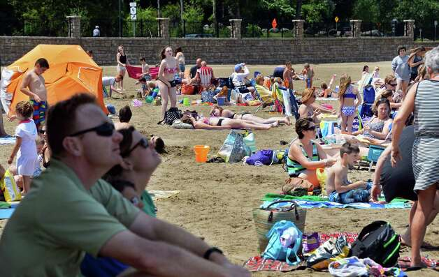 Beach goers enjoy a perfect summer day at Million Dollar Beach Wednesday July 8, 2015 in Lake George, NY.  (John Carl D'Annibale / Times Union) Photo: John Carl D'Annibale