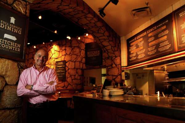 John Gilbert, CEO and co-owner of Romano's Macaroni Grill photographed on Thursday, June 25, 2015, in Houston.
