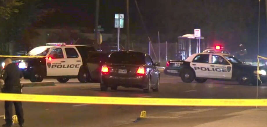A man died Wednesday night after he ran into a street to get away from a gunman, was hit by a passing vehicle and shot by the suspect.