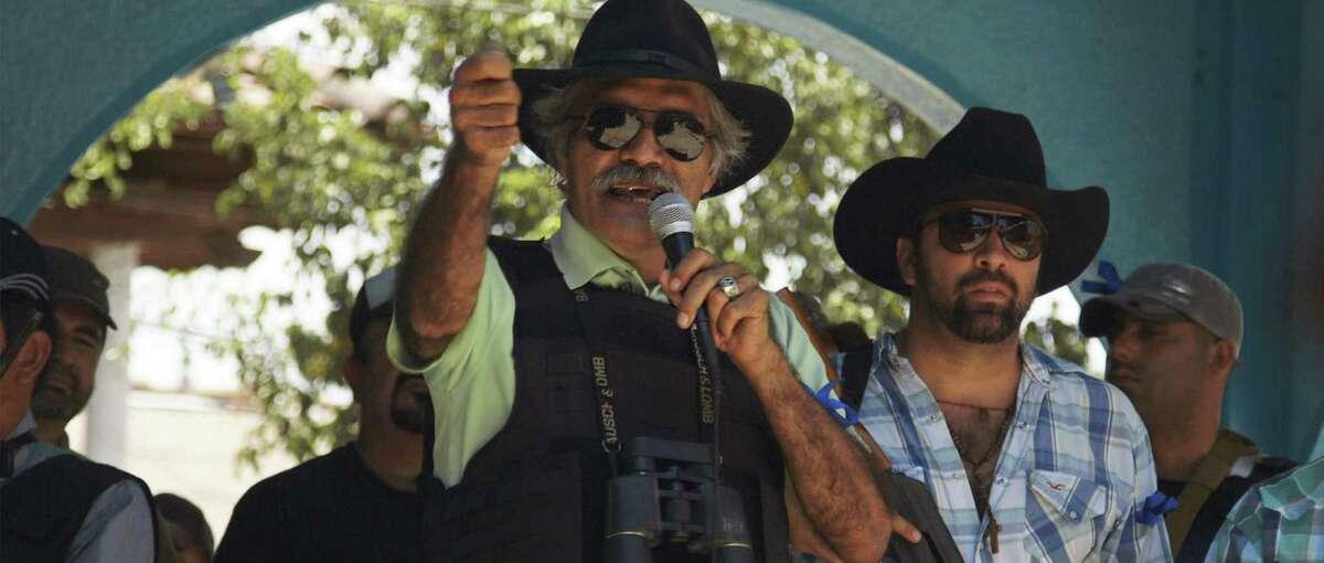 """Dr. José Manuel Mireles heads a vigilante group in Mexico in """"Cartel Land."""""""