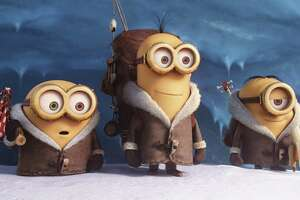 """The little yellow babblers from """"Despicable Me"""" are the stars of the show in """"Minions,"""" which screens Wednesday at CityCentre."""