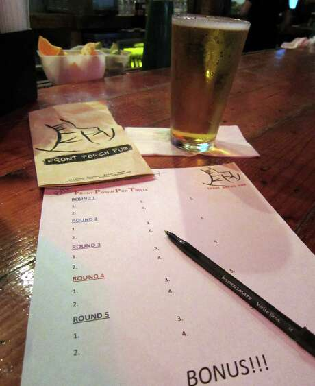 Trivia night means a packed house each Tuesday at Front Porch Pub in midtown. Photo: Syd Kearney