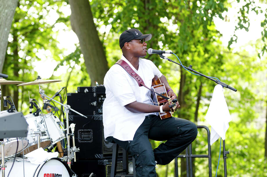 "Javier Colon, winner of ""The Voice,"" will perform on Thursday, July 9, as part of the Downtown Thursdays music series in Bridgeport. Above, he performs during the Shakesbeer Festival Beer Festival at the American Shakespeare Theatre in Stratford on Aug. 17, 2013. Photo: Amy Mortensen /File Photo / Connecticut Post Freelance"