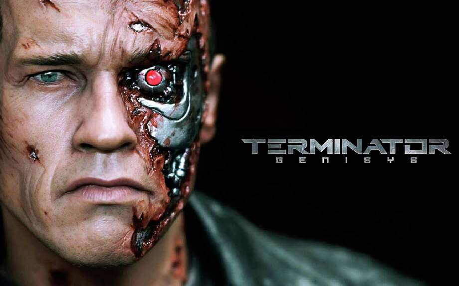 "He's back -- Arnold Schwarzenegger, that is -- reprising his role as the Terminator, but this time he's on the side of the good guys in the new movie, ""Terminator Genisys."" Photo: Contributed Photo / Contributed Photo / Westport News"