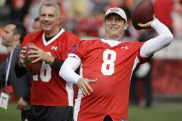 """Joe Montana vs. Steve Young    This is the mother of all quarterback controversies: Two 49ers Hall of Fame quarterbacks and only one starting job. Young chafed while riding the bench behind Montana and later  took over after the latter got hurt. Montana then had to stew and watch Young become the NFL MVP before the 49ers traded Montana to Kansas City. They got along at work, but weren't exactly friends. A book about the two was even titled """"The Best of Rivals."""""""
