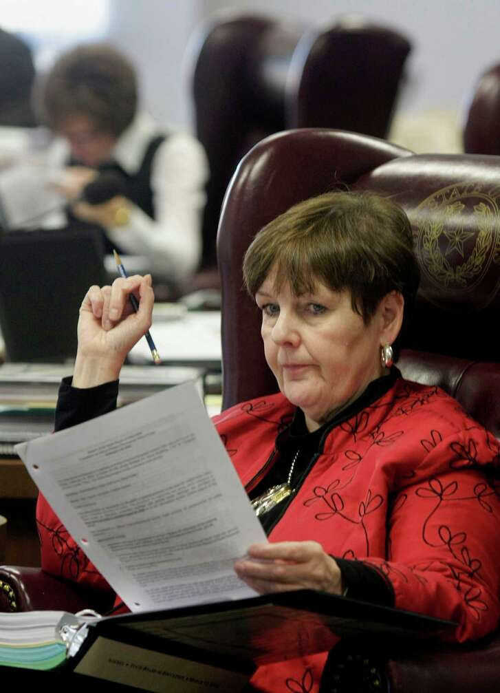 State Board of Education member Patricia Hardy listens to debate during an SBOE meeting in 2010. The Republican from Fort Worth said she sees legislative attempts to give parents state money to cover private school tuition for students with special needs as stepping stone for lawmakers to create a statewide program, which she opposes.