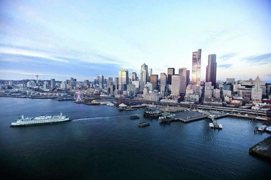 A rendering of the 888 2nd Avenue tower in the Seattle skyline. Photo: Courtesy Of Urban Visions And NBBJ