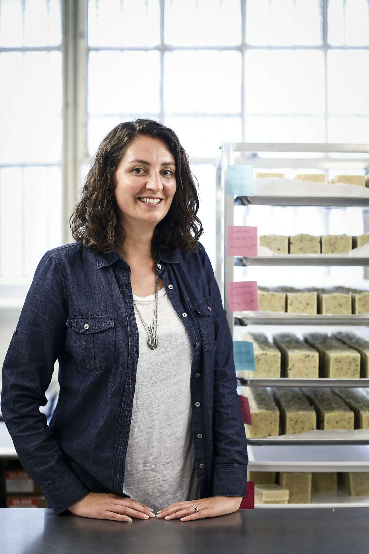 Alana Rivera of Etta+Billie is seen on Wednesday, July 8, 2015 in San Francisco, Calif. Rivera named the company after her grandmothers.