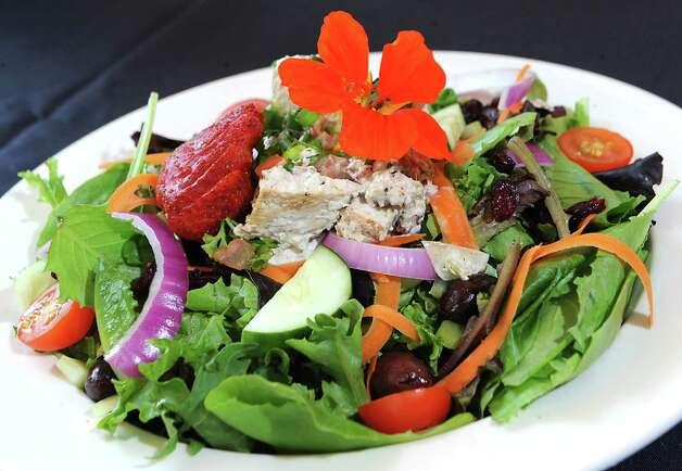 Chicken pecan salad at Cafe Nola on Thursday, July 2, 2015 in Schenectady, N.Y. (Lori Van Buren / Times Union) Photo: Lori Van Buren / 00032452A