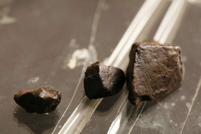 Black tar (pictured here) and brown powder heroin produced in Mexico has dropped in price from $1,000-$1,400 an ounce in 2016 to their current range of $600-$800 per ounce, according to the DEA.