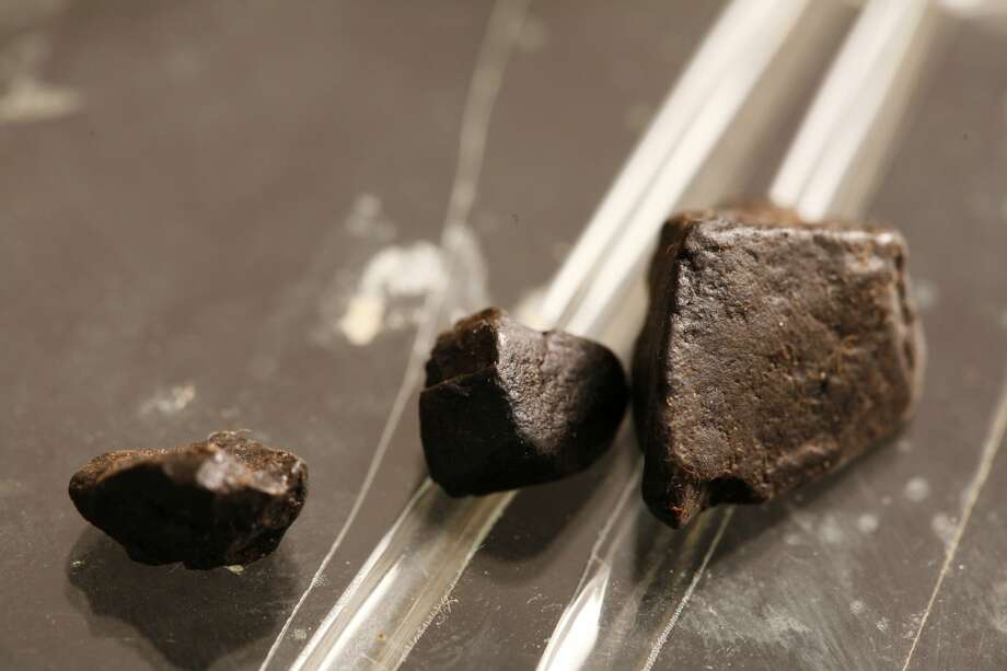 Black tar (pictured here) and brown powder heroin produced in Mexico has dropped in price from $1,000-$1,400 an ounce in 2016 to their current range of $600-$800 per ounce, according to the DEA. Photo: UniversalImagesGroup, UIG Via Getty Images