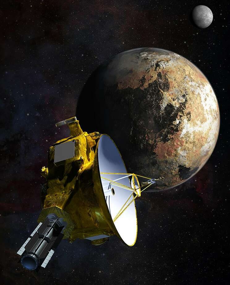 Artist's impression of NASA's New Horizons spacecraft, which was launched from Cape Canaveral in 2006.Six plutonium-powered instruments will record