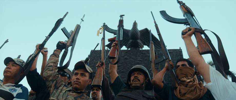 Autodefensa members in Michoac+ín, Mexico, from CARTEL LAND, a film by Matthew Heineman