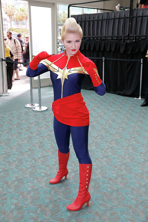 Every year Comic-Con International in San Diego is the meeting grounds for heroes and villains alike, and each year there is a variety of costumes some fitted to the wearer's personal flare and some exact replicas right down to the details. Check out the looks of the convention and see who wore it best. Wonder Woman 1:It may not be the traditional look, but the fierceness of her stance and just her all-around girl-power vibe puts her in the running.  Photo: Joe Scarnici, Getty Images / 2015 Joe Scarnici