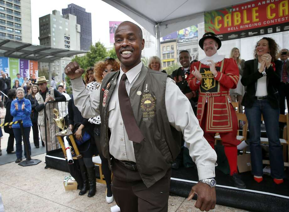 52nd annual Cable Car Bell-Ringing ContestByron Cobb regained his title at the 54th Cable Car Bell-Ringing Contest in San Francisco. Click ahead to check out images from the last contest he won in 2015. Photo: Brant Ward, The Chronicle