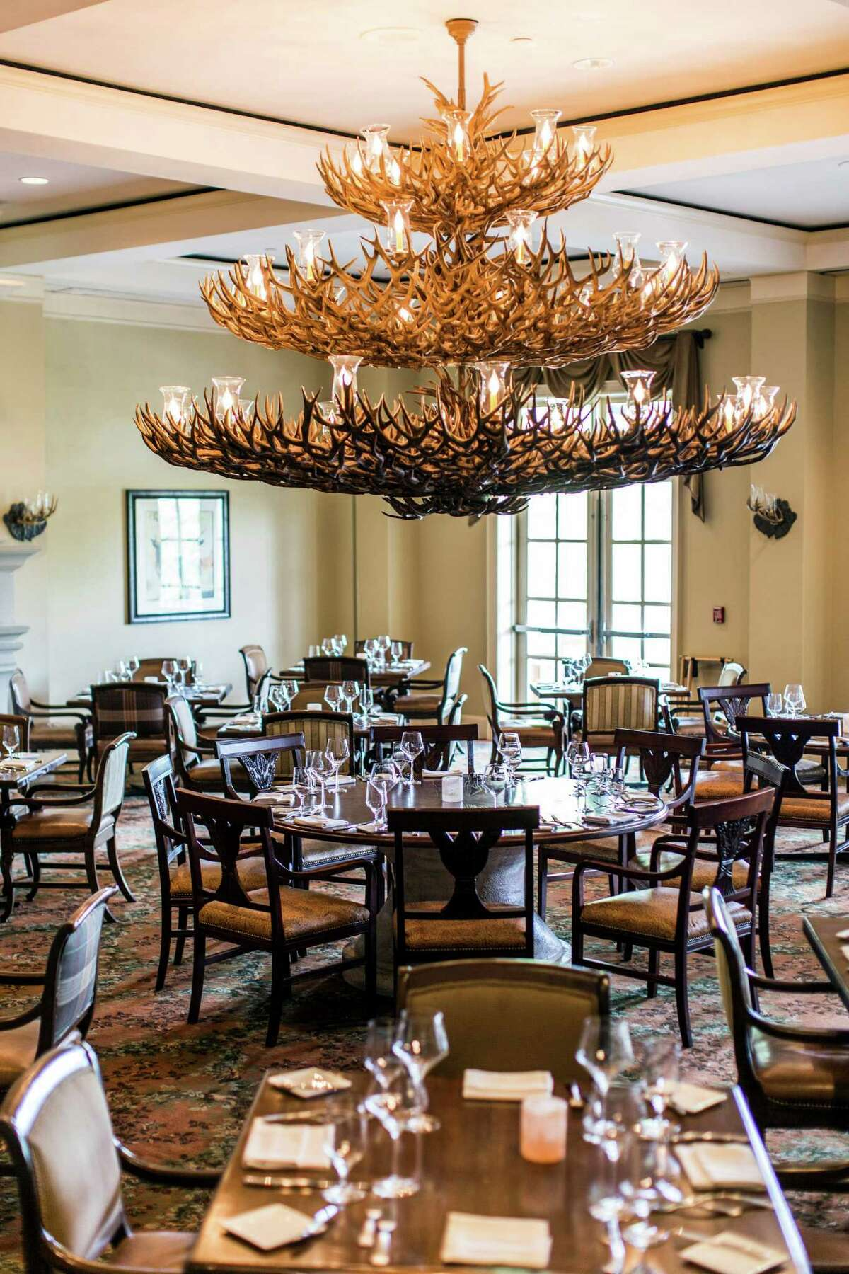 Antlers Lodge in Hyatt Regency Hill Country Resort and Spa: 9800 Hyatt Resort Drive, 210-520-4001, antlerslodgerestaurant.com, will serve a Valentine's Dinner, Feb. 12-14, 5:30-10 p.m. $75, add $50 for wine pairings. Menu features choice of burrata or Italian chopped salad; choice of seafood linguine, pappardelle with wild boar ragu or gnocchi al telefono; choice of marinated New York strip steak, venison osso buco or grilled snapper; and choice of frozen Champagne sabayon or chocolate tiramisu. Hotel packages also available.