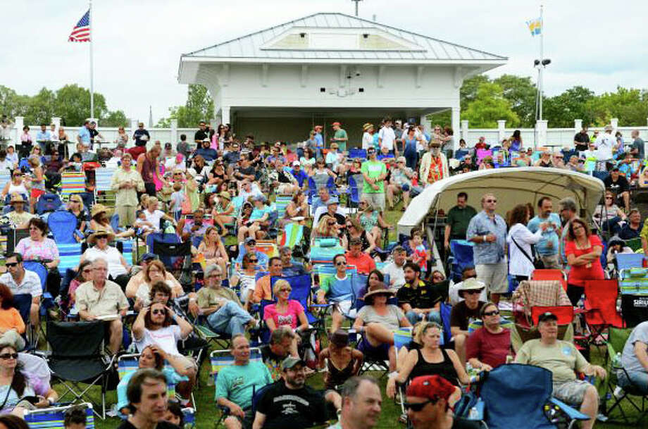 Photo from last year's Blues, Views and BBQ Festival at the Levitt Pavillion. Photo: Contributed / Contributed Photo / Westport News