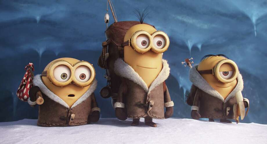 "In this image released by Universal Pictures, characters, from left, Bob, Kevin and Stuart appear in a scene from the animated feature, ""Minions."" (Illumination Entertainment/Universal Pictures via AP) ORG XMIT: NYET112 Photo: Illumination Entertainment / Universal Pictures"