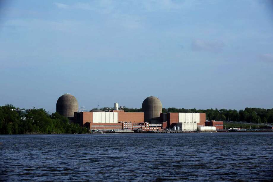 Indian Point Energy Center in Buchanan, N.Y., seen from Tomkins Cove, N.Y., across the Hudson River, May 11, 2015. A fire that knocked out one of the plant's two nuclear reactors on Saturday caused oil and fire-retardant foam to spill from it into the Hudson, putting the reactor out of commission for several weeks. (Hiroko Masuike/The New York Times)       ORG XMIT: XNYT124 Photo: HIROKO MASUIKE / NYTNS
