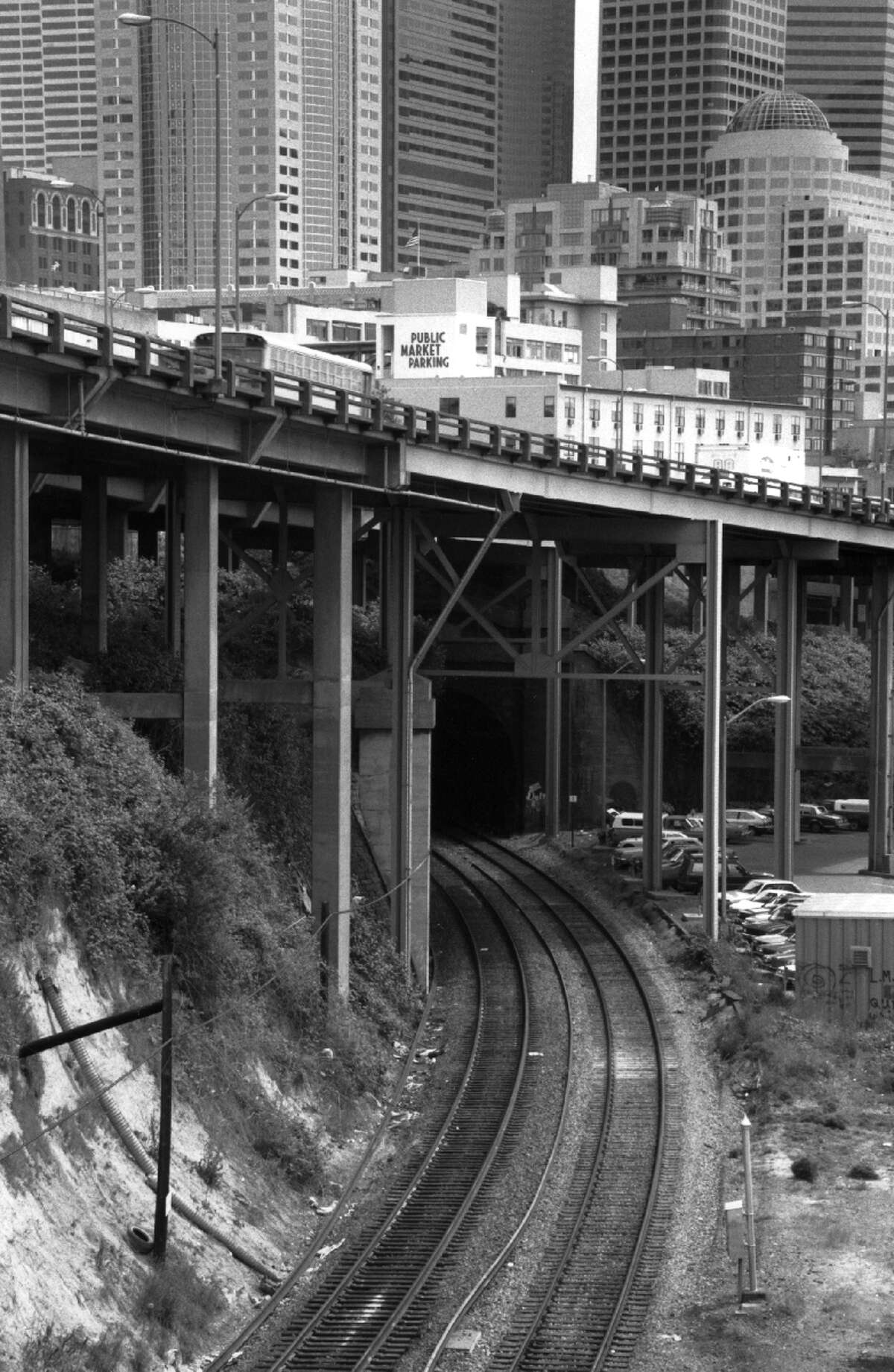 Seattle's layers: Like the train tunnels that run beneath downtown Seattle.