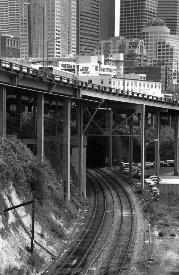 Seattle's layers: Like the train tunnels that run beneath downtown Seattle.  Photo: Seattle Municipal Archive