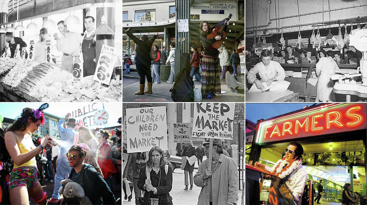 Pike Place Market seems like a Seattle fixture now, with herds of cruise-bound tourists and city shoppers. All that was nearly undone -- by fire, by neglect, by development -- several times over the market's century of life. Here's a look back.