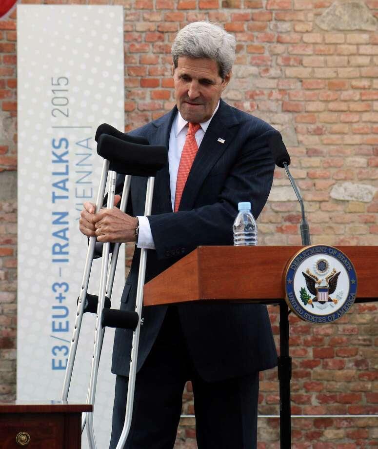 Secretary of State John Kerry senses progress, but says the negotiations are  not open-ended. Photo: Ronald Zak, STR / AP
