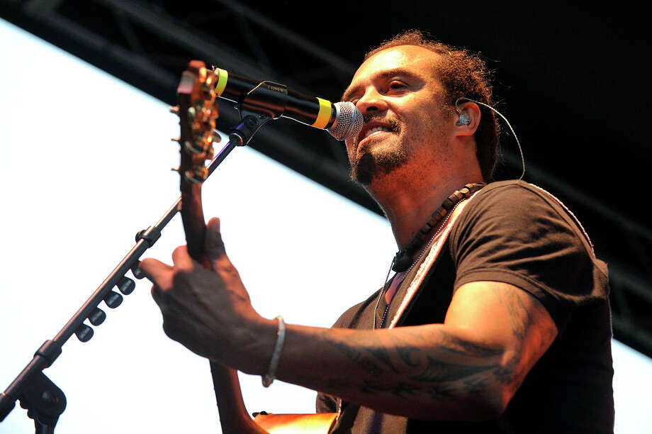 Michael Franti and Spearhead perfroms on stage during Alive@Five in Columbus Park in Stamford, Conn., on Thursday, July 9, 2015. The concerts begin at 5 p.m. and run for six Thursdays, July 9 - August 13. Hearst Connecticut Media is a sponsor of the event. Photo: Jason Rearick, Hearst Connecticut Media / Stamford Advocate