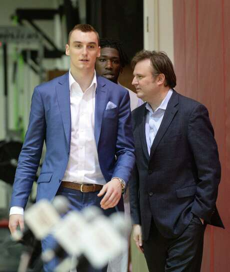 It could come to pass that No. 18 draft pick Sam Dekker, left, becomes the biggest offseason acquisition of Rockets general manager Daryl Morey. Photo: Jon Shapley, Staff / © 2015 Houston Chronicle