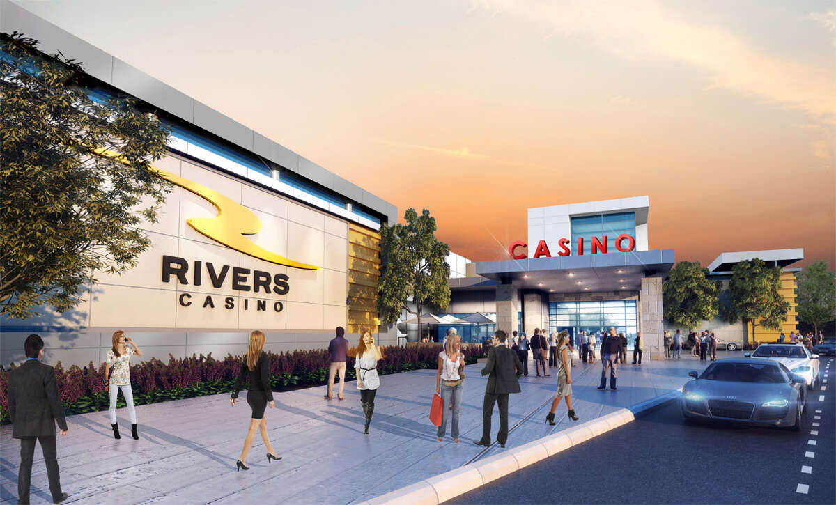 Latest rendering of the Schenectady Rivers Casino, with a view of the entrance.