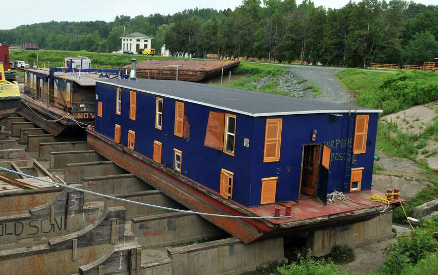 A view of the two New York State Thruway Authority/Canal ...