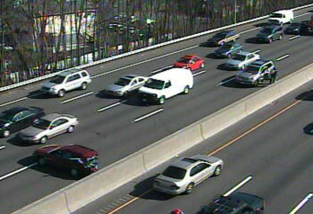 An accident near Exit 8 in Stamford on Interstate 95 South injured one person and tied up traffic in both directions in Stamford, Conn. on Wednesday, March 17, 2010