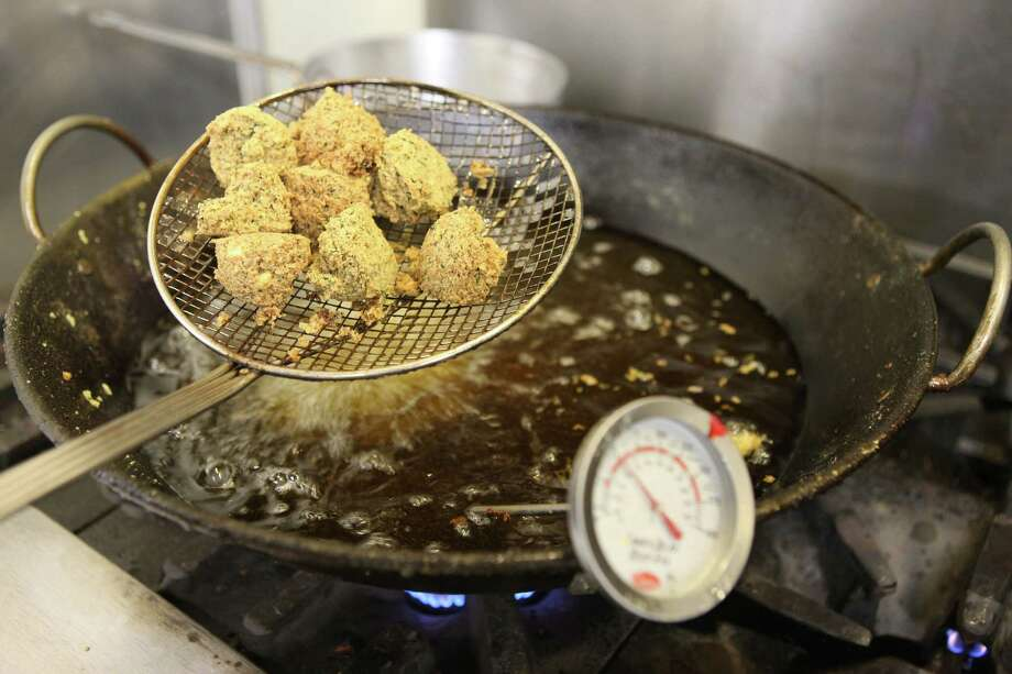 Falafel doesn't get fresher than this. Photo: William Luther /San Antonio Express-News / © 2015 San Antonio Express-News