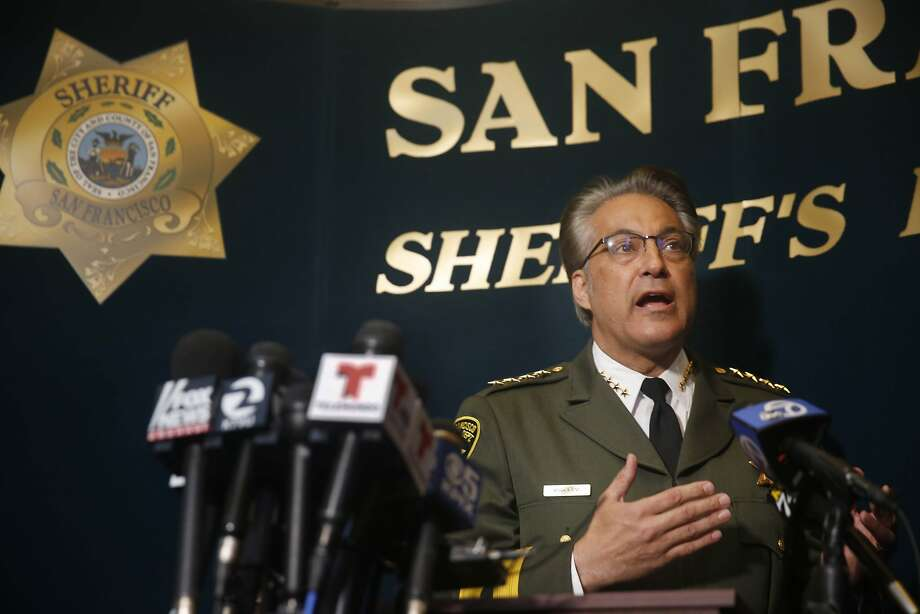 Sheriff Ross Mirkarimi speaks during a news conference at San Francisco City Hall on Friday, July 10, 2015 in San Francisco, Calif. Photo: Lea Suzuki, The Chronicle